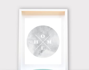 Home Print, Marble, Printable Art, Wall Decor, Instant Download