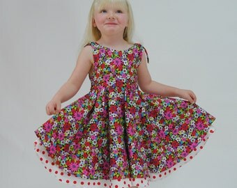 Girls Party Dress, Girls dresses, Swing Dress, Toddler dress, Childrens Clothing, Girls Clothing, Baby Girl Dress, pink dress, size 2 - 10
