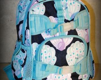 Peacock Pottery Barn Mini Preschooler Backpack - Monogram included
