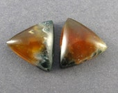 Flame Agate Designer Cabochon Matched Pair (Mexico)