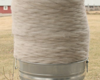 "Pin Drafted Roving ""Autumn"" - cvm wool blended with angora natural colors romeldale cvm roving"