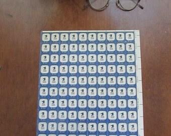 1971 USPS Emblem (United States Postal Service) 8 Cent U.S. Postage Stamp – Sheet of 80 Unused  Stamps - Vintage US Postage Stamps