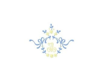 INSTANT DOWNLOAD Monograms Machine Embroidery Designs Set # 36
