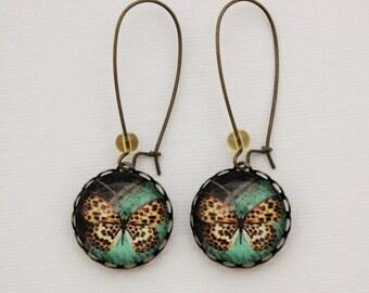 SALE Leopard Butterfly Earrings