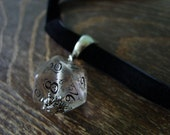 dice choker D20 elven dice pendant D20 dice choker elven dice necklace pathfinder jewelry dnd rpg geek dungeons and dragons choker