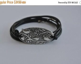 SALE 30% off Sale Birds Nest Leather Wrap Bracelet