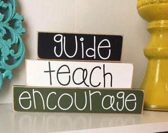 Stacked Teacher Gift- Teacher Gift, Teacher Appreciation gift, Teacher wood sign, Gift for Teacher, End of Year gift, Teacher Sign