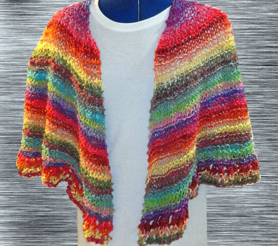 Knit Shawl Pattern, Easy Knitting Pattern, Easy to Knit ...
