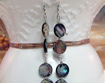 Abalone Dangling Earrings - ER31 -