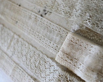 vintage handmade webbed lace