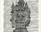 Buy Any 2 Prints get 1 Free Get Out I Need To Go To My Mind Palace Sherlock Holmes Quote Vintage Dictionary Art