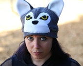 Custom Wolf Hat with ear flaps