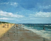 Original Oil Painting by Dusan 'At the Beach'