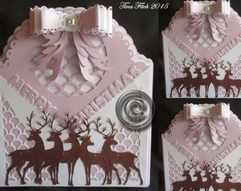 Christmas Bow Card Cutting file, DXF,SVG,MTC,Scal,Cameo,Silhouette,Cricut,ScanNCut