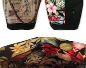 Reserved Listing for Annie. MTO. Custom. Kealakekua Hawaii Bucket Hobo Handbag. Repurposed Coffee Bag and Shoulder Bag. Handmade in Hawaii.