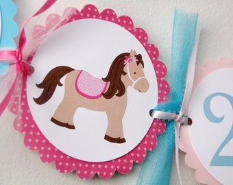 Pony Birthday Banner, Horse Party supplies