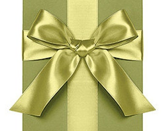 "Satin Ribbon - 1"" Chartreuse Double Faced - 10 yards"