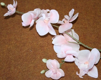 Pink Phalaenopsis Orchid Branch - silk flowers- artificial flowers