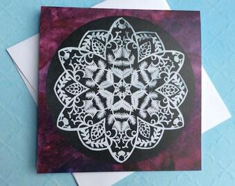 Winter Foliage greeting card - blank greeting card - nature art - winter foliage - square card