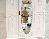 Painted Cottage Chic Shabby French Romantic Armoire/ Wardrobe AM190