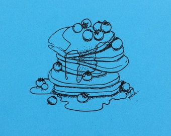 minimalist ink print: Short Stack