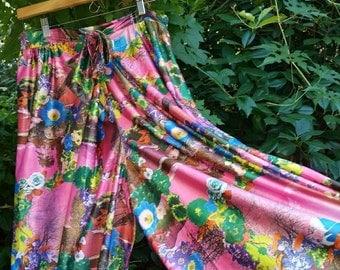Vintage Palazzo Pants 1960s Palazzo Pants 60s Palazzo Pants Mad Men Mod Lounge Pants Hippie Pants Bohemian Pants Boho Pants Festival Pants