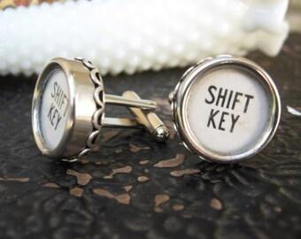 Antique Typewriter Key Cuff links - Shift Keys C22