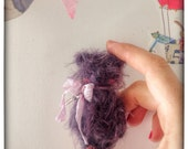 2,5 inch Artist Handmade Miniature Pocket Sized OOAK Mohair Teddy Bear Fluffy by Sasha Pokrass
