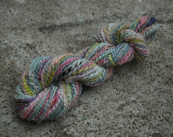 "Colorway ""Kitten"" Art Spun 2 Ply Handspun Yarn"