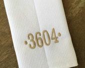 Monogrammed Kitchen Towels - Waffle Weave - You choose the font, monogram color and design