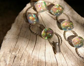 clear dichroic glass bracelet