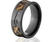 Fishhook Max5 Camo Rings, RealTree Camo Rings, Camo Max 5 Wedding Bands, Fishing Rings: BZ-Max5-Fishhook