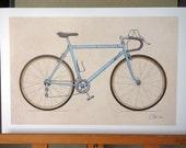 Classic Ten-Speed Bicycle (11x17)