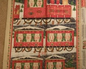 Gorgeous Train Advent Calendar Fabric Panel--HARD Find----40-70% off Patterns n Books SALE