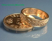COIN RING - (( Iceland 5 Aurar )) - (Choose The Ring Size You Want) - AWESOME Detail