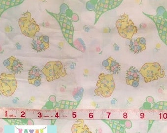 Vintage Baby Elephant Crib Sheet
