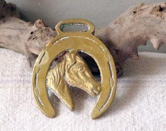 Vintage Horse Brass - Decorative Horse Brass - 1960s Horse Brass Horse Head Medallion