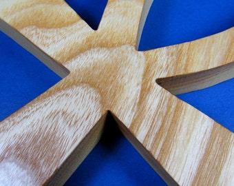 Ankh Cross / Egyptian Symbol / Life / LARGE / Ash Wood