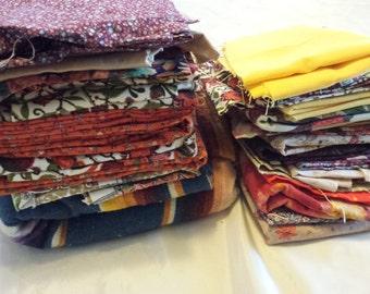 Fabric Grab Bag. Earth Tones Fabric Destash. Cotton Fabric. Autumn Bulk Fabric Lot. Fabric by the Box. Vintage Fabric. 7.5+ lbs. Box 3