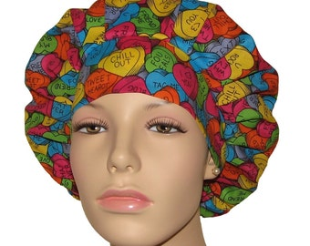 Scrub Hats - Valentines Day Candy Hearts