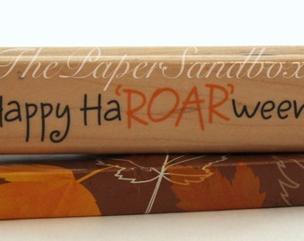 """Retired House Mouse Rubber Stamps, Halloween Rubber Stamps, House Mouse Rubber Stamps, Happy Ha""""ROAR""""ween Rubber Stamp, Cards & Stationery"""