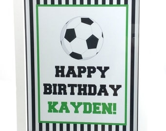 Soccer Party Sign, Soccer Birthday Sign, Soccer Sign, Soccer Party Decoration - 8x10