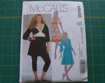 McCall's 5435 Misses Tunic and Dresses Sizes 10-16 Sewing Pattern