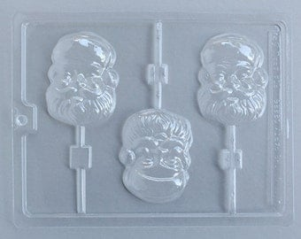 Santa Lollipop Mold, Santa Chocolate Lollipop Mold, Santa Claus Chocolate Mold, Christmas Chocolate Mold