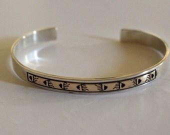 Navajo Silver Gold Bracelet Dan Skeets