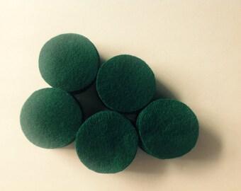 "50 EMERALD 2"" wool penny rug circles"