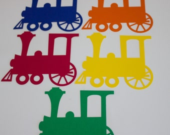 Paper Trains, Set of 25, Primary Colors