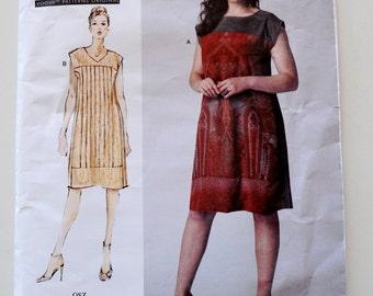 """Vogue V1390 Today's Fit by Sandra Betzina Dress Bust 32""""- 55"""" UNCUT"""