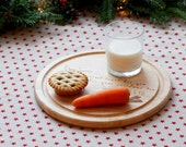 Personalised Christmas Eve Serving Board ~ A special treat for Santa & his Reindeer from Goozeberry Hill ~ Introductory Price