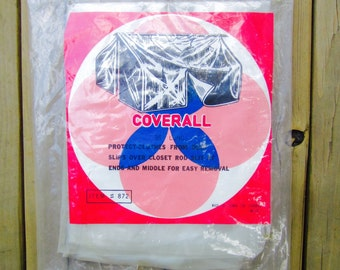 Vintage Clothes Protector Coverall Closet